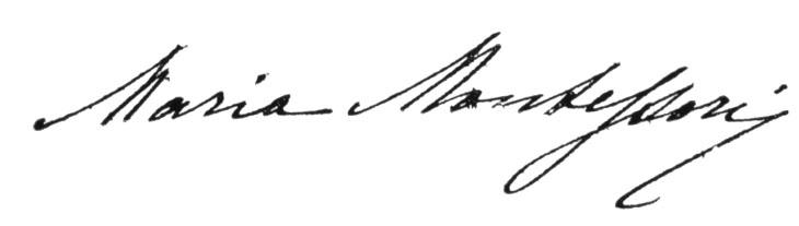 Maria Montessori Sign